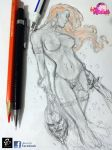 RC Hot Heroines Solo Girls Red Sonja Sketch by renatocamilo