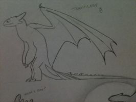 Toothless sketch 2 by ShoyzzFanArt