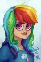 Rainbow Dash portrait by TeenAgeteem