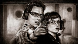 Shooting lesson by snow-jemima