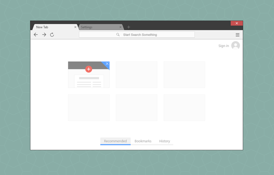 Google Chrome Mockup by BluPaper