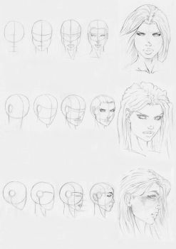 marvel style head drawing by Rofelrolf
