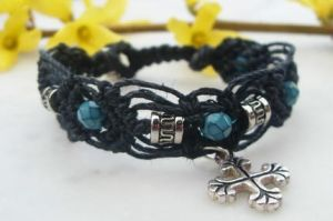 cross hemp bracelet by HempLady4u