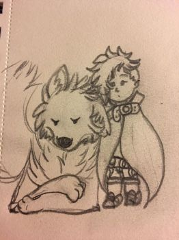 It's Navi and Wolfen by Ms-Dawn