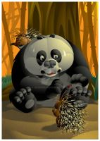 Wounded Panda by ud120182