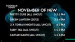 My Dream Toonami TNG November New Lineup by PeachLover94