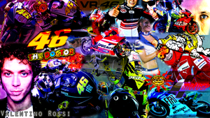 Valentino Rossi Wallpaper by Jakec-94