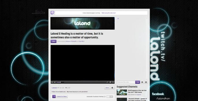 Lalond twitch.tv layout by MissyMLam