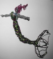 Reworked mermaid 2012 to pink and green by metalpug