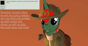ask Buckshot and Silkwinds #2 buck's free time by darkcrill