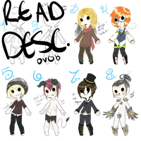 Misc. Male Adopts (1/8 sold) -OPEN- by JinGalaxy