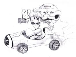 Luigi Ridin Dirty by jixustudios