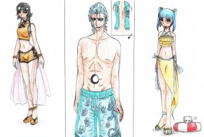 Uryuu Fashion: Family Bathingsuits by Ankoku-Sensei