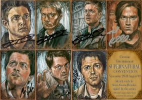 Supernatural signed art by BohemianWeasel
