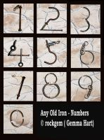 Any Old Iron - Numbers by rockgem