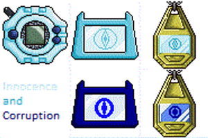 My Digivice, Tag and Crest by monsterhighlover3