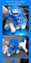 Foo Dogs Winter Set Posable Art Dolls by Eviecats