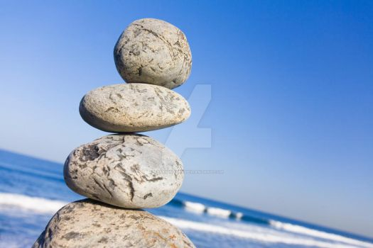 Pebble Stack Angled by Spanishalex