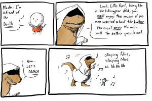 Dinosaur Monk -Life is like an iPod- by Almoyan