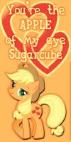 Applejack Valentine's Day Card by Kurenai-Hio
