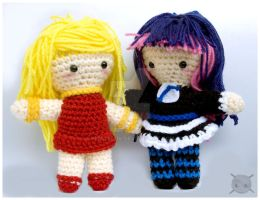 panty and stocking doll set by pirateluv