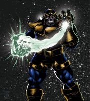 Colored Thanos by klaatu81