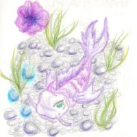 Crayon Koi Fish Doodle by SometimesCats