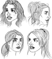 Rose Tyler Hair Studies by ashesto