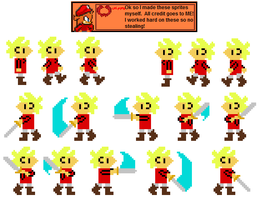 Player Sprite Sheet by wu1f3n