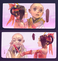 qixiu and little monk~~ by junefeier