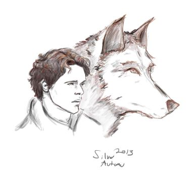 The King in the North and Grey Wind by silver-autumn