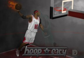 hoop city digital painting by SupaD1