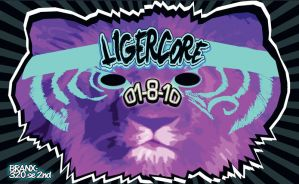 LIGERCORE flyer front by reactionarypdx