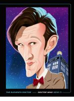 THE ELEVENTH DOCTOR PRINT by kgreene
