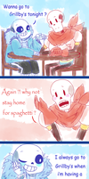 Undertale Comic : ''Wanna go to Grillby's'' by Twinklii