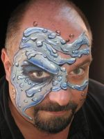 H2O face Painting by BruceCollinsArt