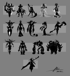 silhouette sketches by Mai27