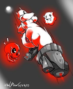 Downwell Pinup by Gilnorg