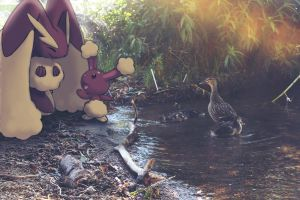 Wild Lopunny and Buneary with by Ninja-Jamal