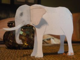 Paper Creatures Elephant by sable-king