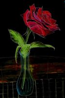 Water Colored Rose by cherry---blossom
