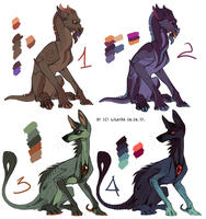 Monster 6$ Adoptables for charity 02 by LiLaiRa