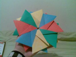Origami: Flower for Rose by saria-the-elf