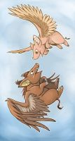 Flying Pigs by Toonfused