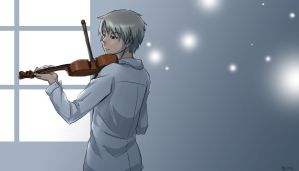 APH: Loner and a violin by qianying