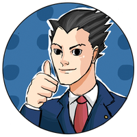 Phoenix Wright Button by Randomeister