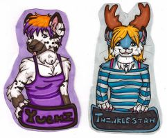 Yuchi and Twinklestah badges by silverwing