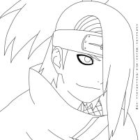 Deidara Lineart 2 by synyster-gates-A7X