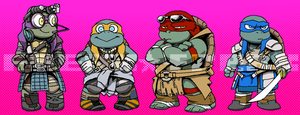 Chibi Movie Turtles by FREAKfreak