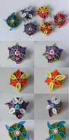mane six themed flower badges by coppy-cat